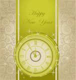 Happy New Year background. With clock Stock Image