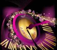 Happy New Year  background. With clock Royalty Free Stock Photo