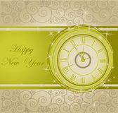 Happy New Year background. With clock Stock Photos