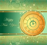 Happy New Year background. With clock Royalty Free Stock Image