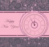 Happy New Year background. With clock Royalty Free Stock Photography