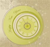 Happy New Year background. With clock stock illustration