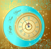 Happy New Year background. With clock Royalty Free Stock Images