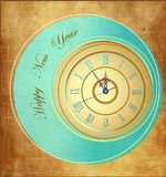 Happy New Year background. With clock Royalty Free Stock Photos