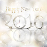 Happy New Year background. With clock design Stock Images