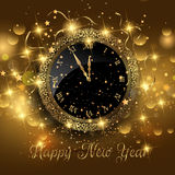 Happy New Year background. With clock design Stock Photography