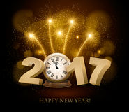 Happy New Year background with 2017 Royalty Free Stock Photography