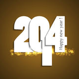 Happy New Year 2014 background. Colorful celebration design Royalty Free Illustration