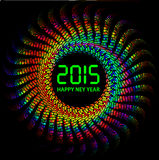 2015 Happy New Year background with colorful lights. Illustration of 2015 Happy New Year background with colorful lights Royalty Free Stock Image