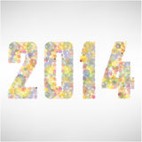 Happy new year 2014  background. Happy new year 2014 colorful background,vector illustration Stock Photo