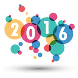 2016 Happy New Year background.colour bubble.vector Royalty Free Stock Photography