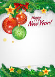 Happy new year. Background for congratulations Stock Photography