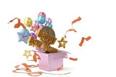 Happy New Year background.3D illustration. Happy New Year background 3D illustration Royalty Free Stock Image