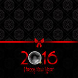 Happy New Year background with Damask pattern. Happy New Year background with a Damask pattern Royalty Free Stock Image
