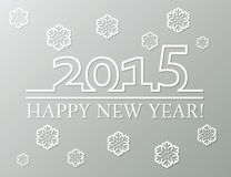 Vector happy new year 2015 Stock Image
