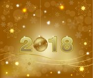 Happy New Year 2018 background decoration Royalty Free Stock Photos