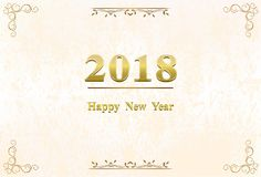 Happy New Year 2018 background decoration Stock Images