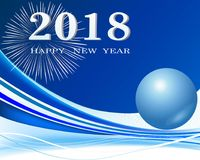 Happy New Year 2018 background decoration Stock Image