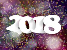 Happy New Year 2018 background decoration. Greeting card design Stock Photo