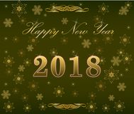 Happy New Year 2018 background decoration Royalty Free Stock Photo