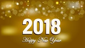 Happy New Year 2018 background decoration Royalty Free Stock Images