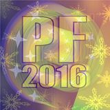 Happy new year background 2016 - decoration for New Year welcome party. Computer generated image Stock Illustration