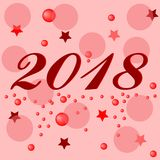Happy New Year 2018 background decoration. Vector illustration Royalty Free Stock Image