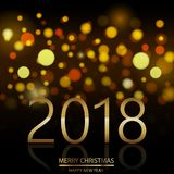 Happy New Year background with defocused night lights. Vector.  Stock Photo