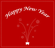 Happy new year background design Stock Image
