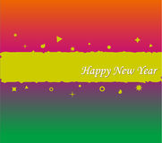 Happy new year background design. Happy new year card/backgroung design Royalty Free Stock Photography