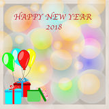 Happy New Year 2018 Background For Design. Eps 10 vector illusion Stock Image