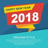 Happy New Year 2018 design stock photo