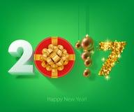 Happy New Year 2017 background. Royalty Free Stock Photo