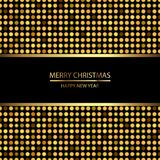 Happy New Year background with disco lights on black. Vector stock illustration