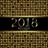 Happy New Year background with disco lights on black. Vector vector illustration