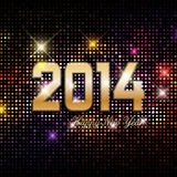 Happy New Year background. With a disco lights effect royalty free illustration