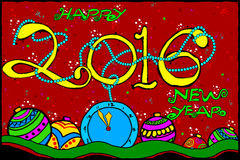 Happy New Year background. Easy to edit vector illustration of Happy New Year 2016 background Royalty Free Stock Photo