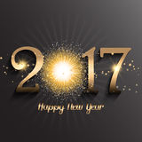 Happy New Year background with firework design. Gold Happy New Year background with firework design Stock Images