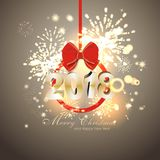 Happy New Year background  with firework. Party background with firework and clock Royalty Free Stock Photos