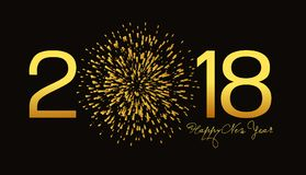 Happy new year background with fireworks.  Stock Images