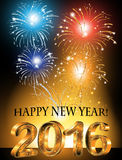 Happy New Year 2016 background Royalty Free Stock Photos