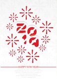 2019 Happy new year background with fireworks red. 2019 Happy new year background with fireworks royalty free illustration
