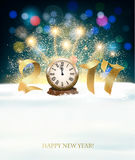 Happy New Year 2017 background with fireworks. Vector Royalty Free Stock Photos