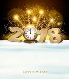 Happy New Year background with 2018 and fireworks. Vector Stock Photography