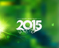 Happy New Year 2015 Background. Happy New Year 2015 floral background stock illustration
