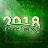 Happy New Year 2018 background Royalty Free Stock Photo