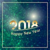 Happy New Year 2018 background Stock Image