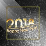 Happy New Year 2018 background Royalty Free Stock Image