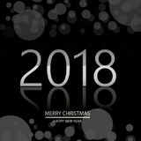 Happy New Year background with glowing lights text on defocused background. Vector.  stock illustration