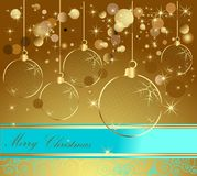 Happy New Year background. Gold and blue Royalty Free Stock Image